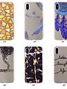 Pouzdro Uyumluluk Apple iPhone XS / iPhone XS Max Temalı Arka Kapak Düşkapanı / Tüyler / Mermer Yumuşak TPU için iPhone XS / iPhone XR / iPhone XS Max