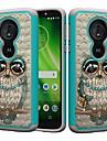 Etui Käyttötarkoitus Motorola MOTO G6 / Moto G6 Play Iskunkestävä / Paljetti / Kuvio Takakuori Pöllö / Tekojalokivi Kova PC varten MOTO G6 / Moto G6 Play / Moto E5 Play
