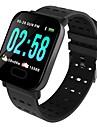 Indear M20/A6 Herren Smart-Armband Android iOS Bluetooth Sport Wasserfest Herzschlagmonitor Blutdruck Messung Touchscreen Schrittzaehler Anruferinnerung AktivitaetenTracker Schlaf-Tracker Sedentary