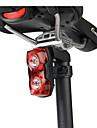 LED Fietsverlichting Achterlicht fiets veiligheidslichten achterlichten Bergracen Wielrennen Waterbestendig Draagbaar AAA 1000 lm Batterijen aangedreven Rood Kamperen / wandelen / grotten verkennen