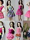 Casual Costumi 8 pcs Per Barbiedoll Poliestere Gonne / Top / Abito Per Ragazza Bambola giocattolo