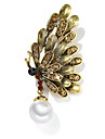 Women\'s Retro Brooches - Pearl Bee European Brooch Bronze / Silver / Gray For Daily