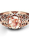 Women\'s Brown Cubic Zirconia Hollow Out Ring Copper Rose Gold Plated Imitation Diamond Clouds Ladies Artistic Trendy Fashion Ring Jewelry Rose Gold For Party Date 6 / 7 / 8 / 9 / 10