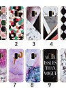 Case For Samsung Galaxy S9 Plus / S9 IMD Back Cover Marble Soft TPU for S9 / S9 Plus / S8 Plus