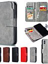 Etui Til Apple iPhone XR / iPhone XS Max Lommebok / med stativ Heldekkende etui Ensfarget Hard PU Leather til iPhone XS / iPhone XR / iPhone XS Max