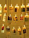 zdm 2m 20 pezzi luci stringa foto a led 20 foto clip alimentato a batteria o interfaccia usb fata scintillio luci e foto card e opere d\arte bianco caldo