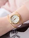 בגדי ריקוד נשים שעון צמיד קווארץ כסף / זהב שעונים יום יומיים אנלוגי נשים אופנתי מינימליסטי - כסף מוזהב