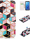 Case For Samsung Galaxy S9 Plus / S9 Wallet / Card Holder / with Stand Full Body Cases Geometric Pattern Hard PU Leather for S9 / S9 Plus / S8 Plus