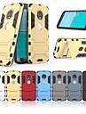 Кейс для Назначение Motorola MOTO G6 Защита от удара / со стендом Кейс на заднюю панель Однотонный / броня Твердый ПК для MOTO G6
