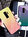Case Kompatibilitás Samsung Galaxy Galaxy S10 / Galaxy S10 Plus Tükör Fekete tok Színátmenet Kemény Hőkezelt üveg mert S9 / S9 Plus / S8 Plus