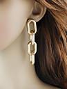 Γυναικεία Σύνδεσμος / Αλυσίδα Κρεμαστά Σκουλαρίκια Σκουλαρίκια Βασικό Μοντέρνα Κοσμήματα Ασημί / Χρυσαφί Για Καθημερινά Ημερομηνία 1 Pair