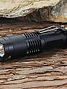 פנס LED LED LED 1 Emitters 1200 lm 5 מצב תאורה עם סוללה ומטען מיקוד מתכוונן, עמיד לחבטות, Strike Bezel מחנאות / צעידות / טיולי מערות, שימוש יומיומי, עבודה שחור