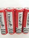 UltraFire BRC Li-ion Solare batteria 4200 mAh 4pcs Ricaricabile per Torcia, Luce della bici, Torce frontali Caccia Scalate Campeggio / Escursionismo / Speleologia