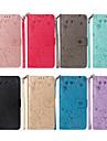 Custodia Per Apple iPhone XR / iPhone XS Max Porta-carte di credito / Con supporto / Con chiusura magnetica Integrale Animali / Fiore decorativo Resistente pelle sintetica per iPhone XS / iPhone XR