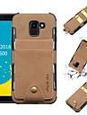 Кейс для Назначение SSamsung Galaxy J6 / J4 Кошелек / Бумажник для карт / Защита от удара Кейс на заднюю панель Однотонный Мягкий Кожа PU для J8 (2018) / J6 (2018) / J6 Plus