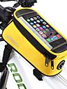 ROSWHEEL Bag Cell Phone / Marsupio triangolare da telaio bici 5.5 pollice Schermo touch, Ompermeabile Ciclismo per Samsung Galaxy S6 / LG G3 / Samsung Galaxy S4 Blu / nero / iPhone 8/7/6S/6