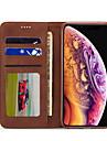 Nillkin غطاء من أجل Apple iPhone XR / iPhone XS Max محفظة / حامل البطاقات / مع حامل غطاء كامل للجسم لون سادة قاسي جلد PU إلى iPhone XS / iPhone XR / iPhone XS Max