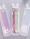 Porta-matite Trasparente, Plastica Traslucido Organizzazione 1pc